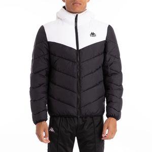 Kappa 222 Banda Amarit Black White Padded Jacket